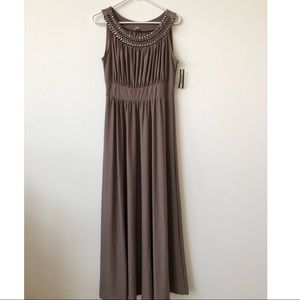 NEW Haani Maxi Beaded Neck Line Dress